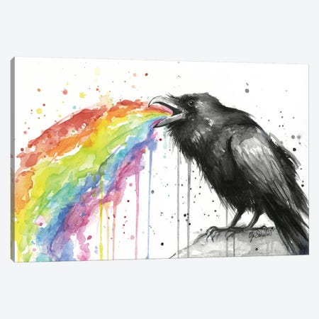 Raven Tastes The Rainbow Canvas Print #ICS554} by Olga Shvartsur Canvas Art Print