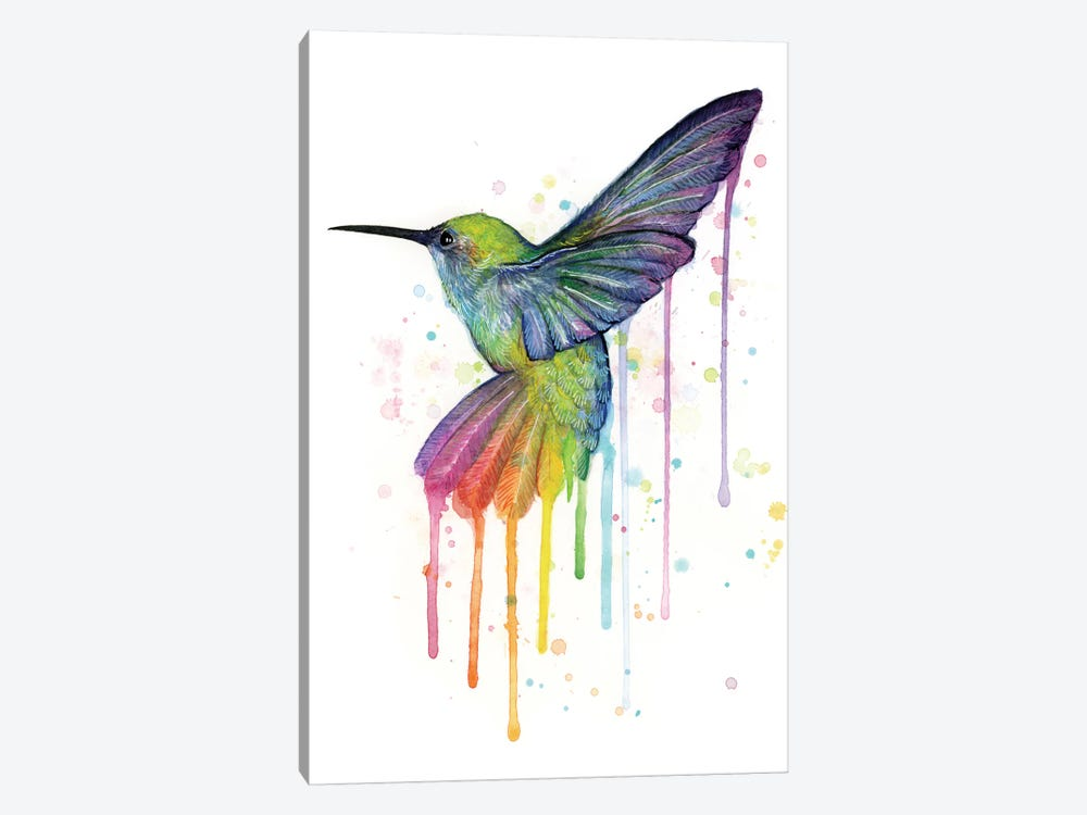 Rainbow Hummingbird by Olga Shvartsur 1-piece Art Print