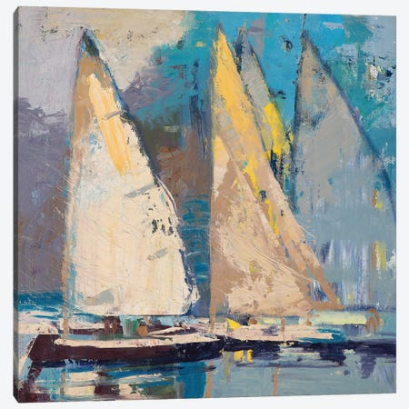 Breeze, Sail and Sky Canvas Print #ICS563} by Beth A. Forst Canvas Art Print