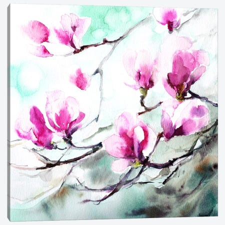 Magnolia Spring Canvas Print #ICS569} by CanotStop Art Print