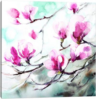 Magnolia Spring Canvas Art Print
