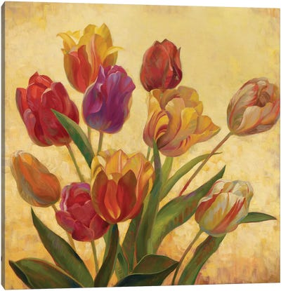 Tulip Bouquet Canvas Art Print