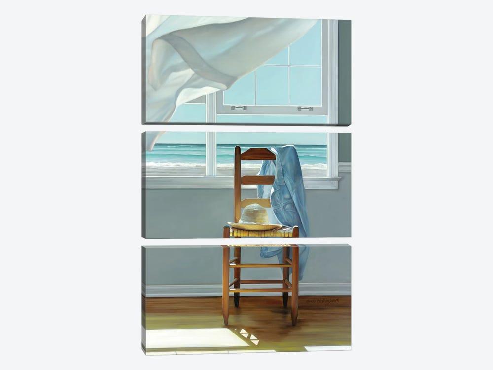 Deep Breathing by Karen Hollingsworth 3-piece Canvas Art Print