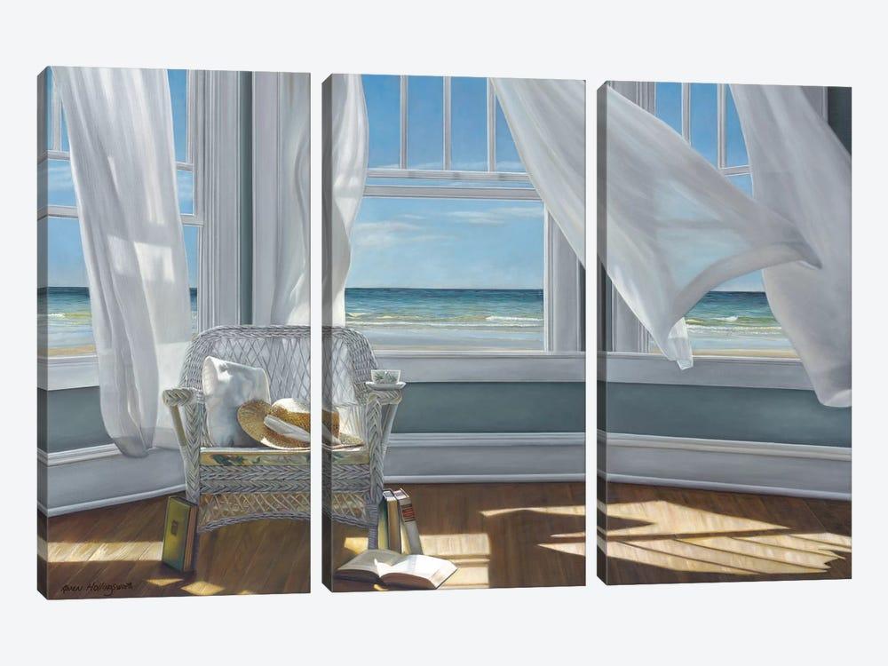 Gentle Reader by Karen Hollingsworth 3-piece Canvas Artwork