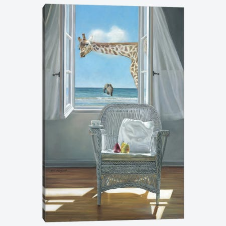 Rubberneck Canvas Print #ICS583} by Karen Hollingsworth Art Print