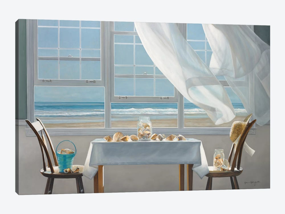The Shell Collectors 1-piece Canvas Art