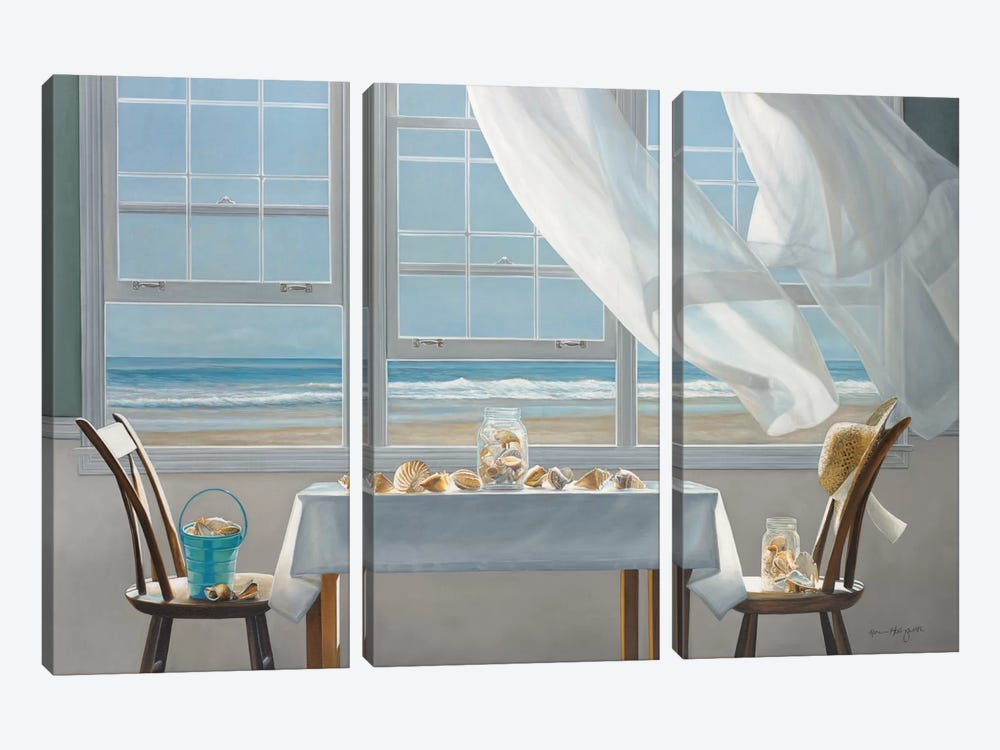 The Shell Collectors by Karen Hollingsworth 3-piece Canvas Artwork