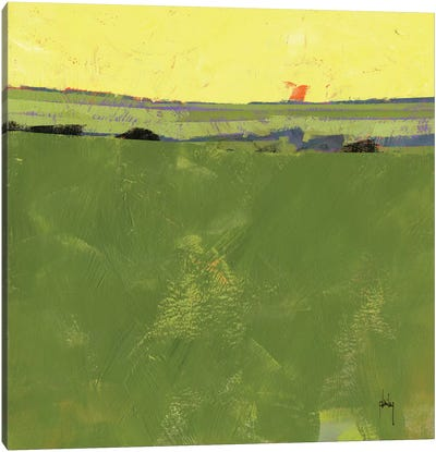 Hot Sky Over Lazy Fields Canvas Print #ICS590