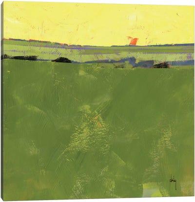 Hot Sky Over Lazy Fields Canvas Art Print