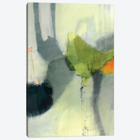 Green Bird Canvas Print #ICS595} by Sidsel Brix Art Print
