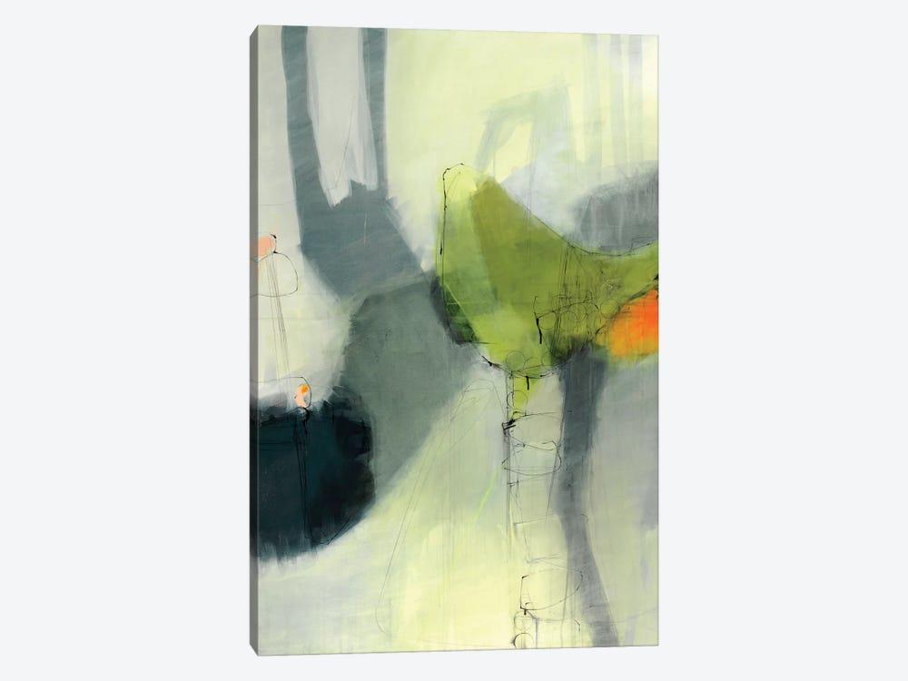 Green Bird by Sidsel Brix 1-piece Canvas Wall Art