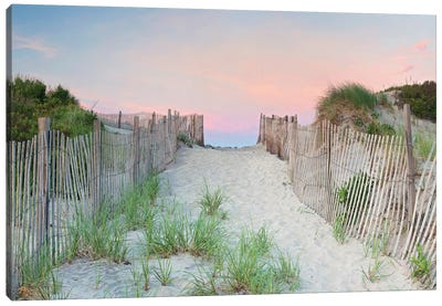 Crescent Beach Path Canvas Print #ICS621