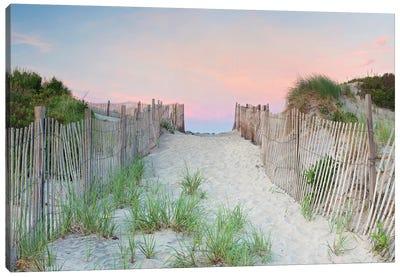 Crescent Beach Path Canvas Art Print