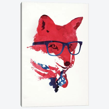 American Fox Canvas Print #ICS623} by Robert Farkas Canvas Art
