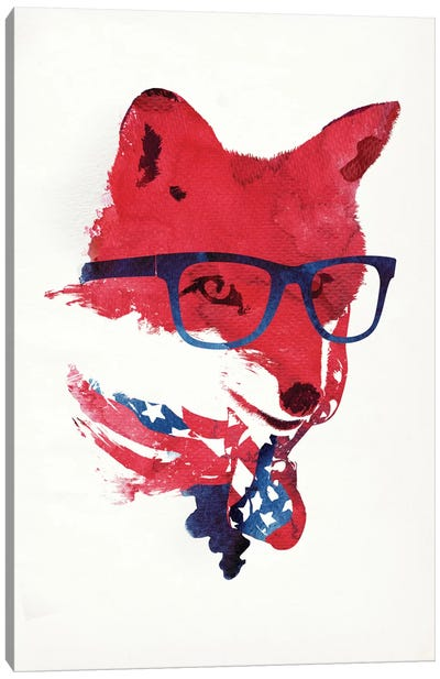 American Fox Canvas Art Print