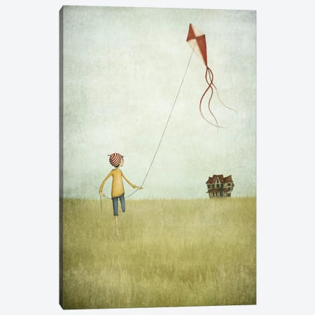 Kite Runner Canvas Print #ICS636} by Majali Canvas Artwork