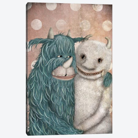 Monster Love Canvas Print #ICS637} by Majali Canvas Wall Art