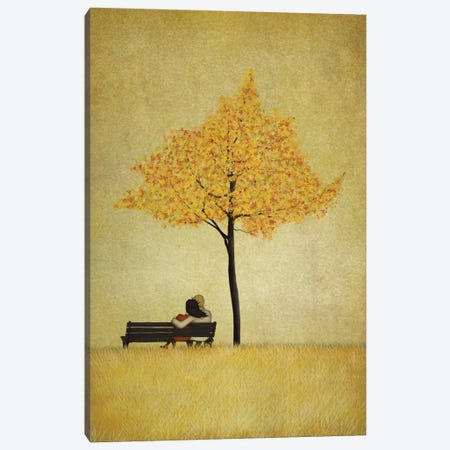 The Cherry Tree - Fall Canvas Print #ICS638} by Majali Canvas Print