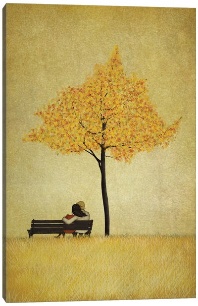 The Cherry Tree - Fall Canvas Art Print