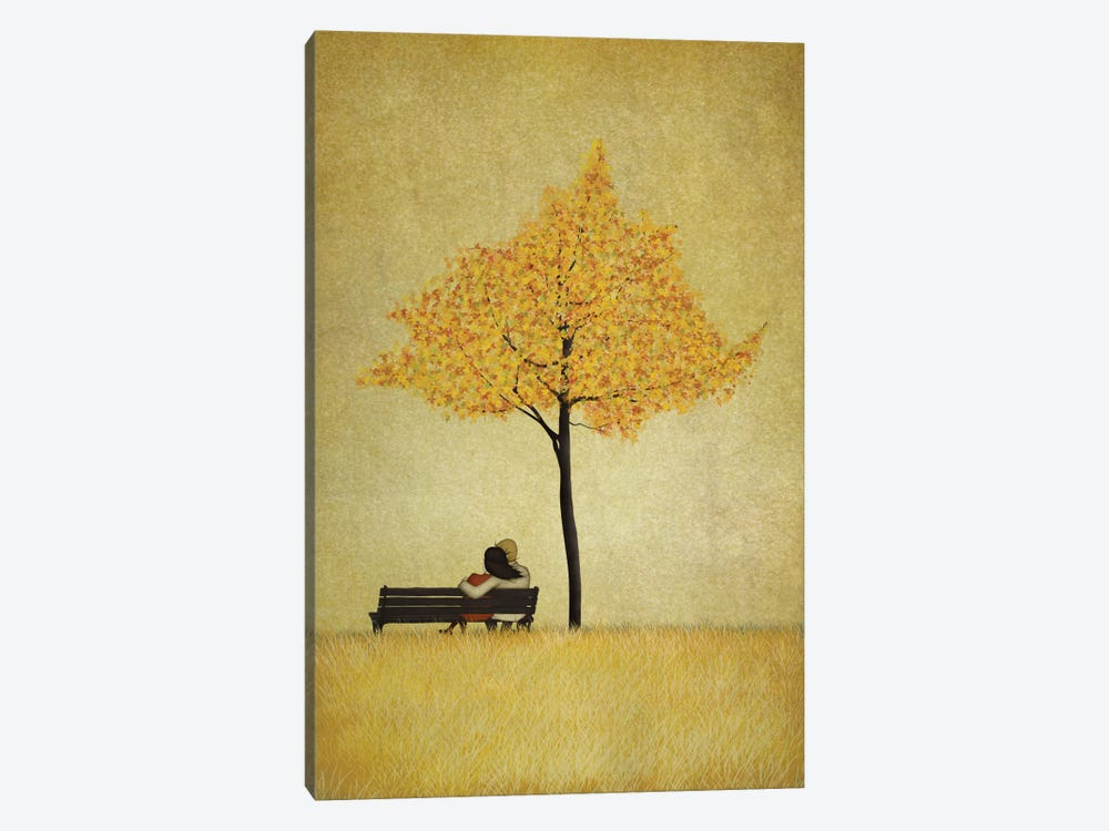 The Cherry Tree - Fall by Majali 1-piece Canvas Print