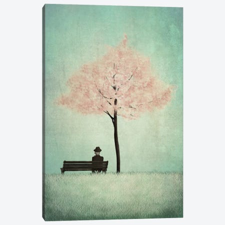 The Cherry Tree - Spring Canvas Print #ICS639} by Majali Art Print