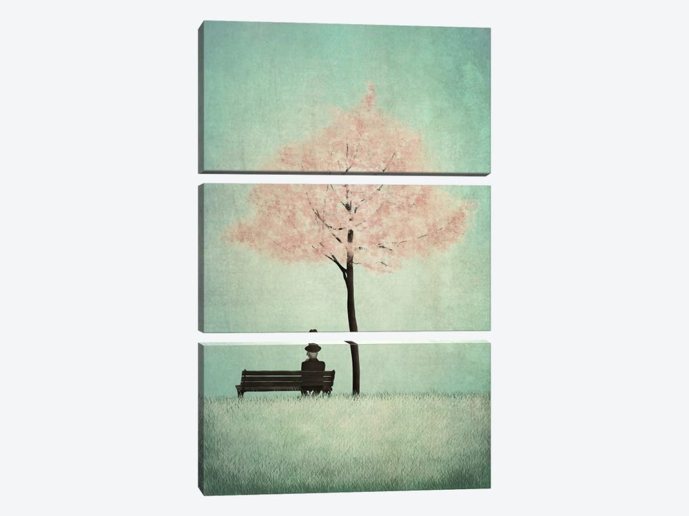The Cherry Tree - Spring by Majali 3-piece Canvas Wall Art