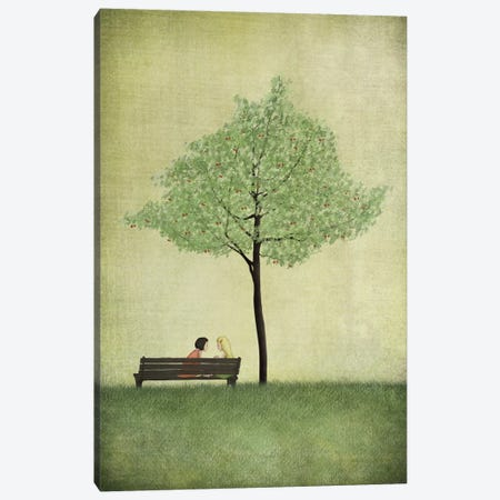 The Cherry Tree - Summer Canvas Print #ICS640} by Majali Canvas Artwork