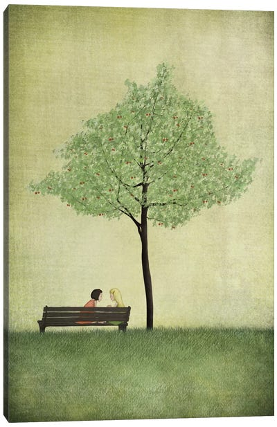 The Cherry Tree - Summer Canvas Print #ICS640