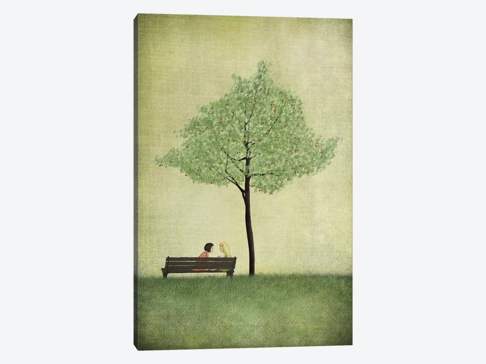 The Cherry Tree - Summer by Majali 1-piece Canvas Artwork