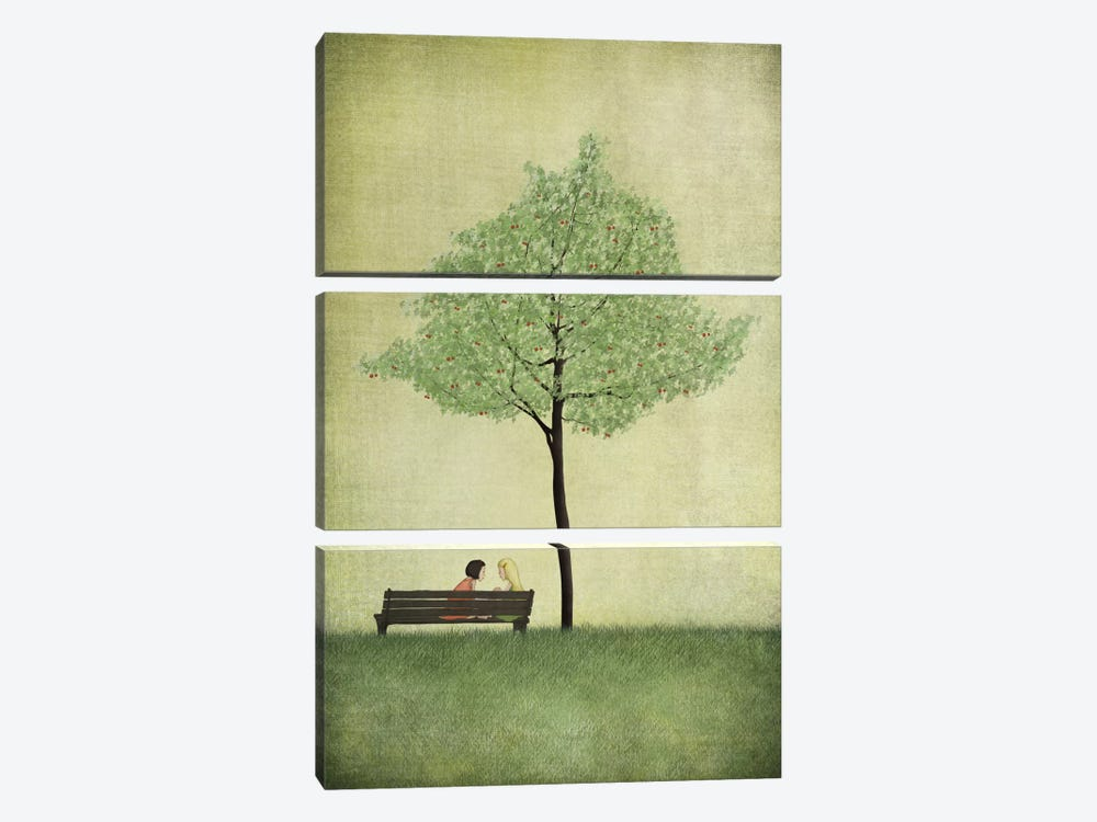 The Cherry Tree - Summer by Majali 3-piece Canvas Artwork