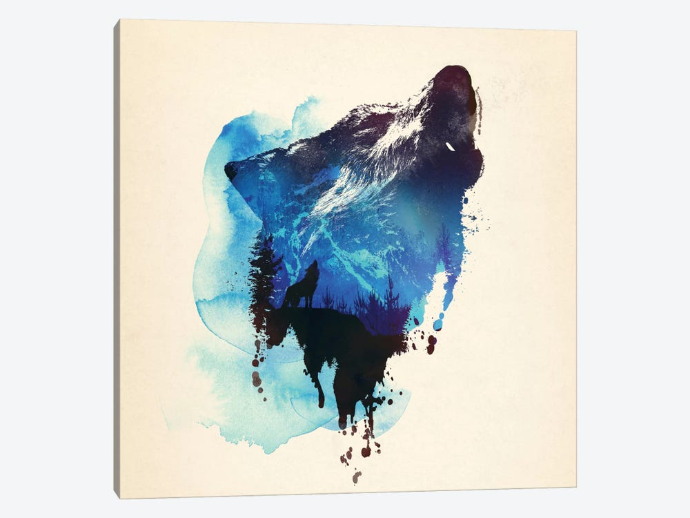 Alone As A Wolf 1-piece Canvas Artwork