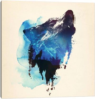 Alone As A Wolf Canvas Art Print