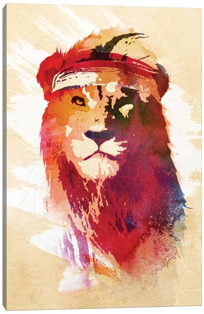 Gym Lion Canvas Print #ICS648