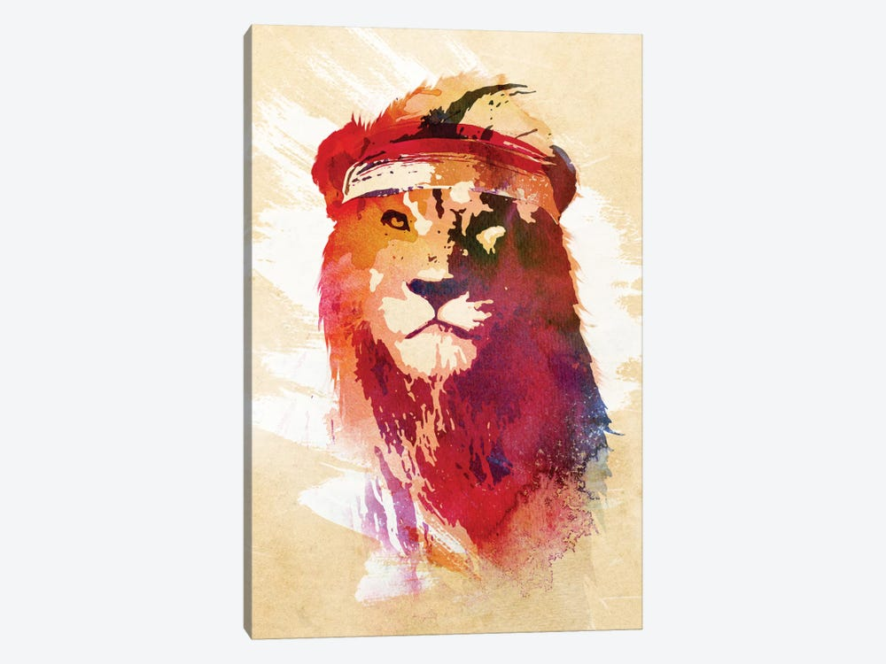 Gym Lion by Robert Farkas 1-piece Canvas Wall Art