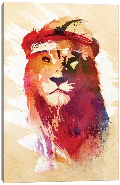 Gym Lion Canvas Art Print
