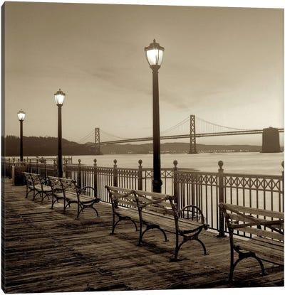 San Francisco Bay Bridge at Dusk Canvas Print #ICS64