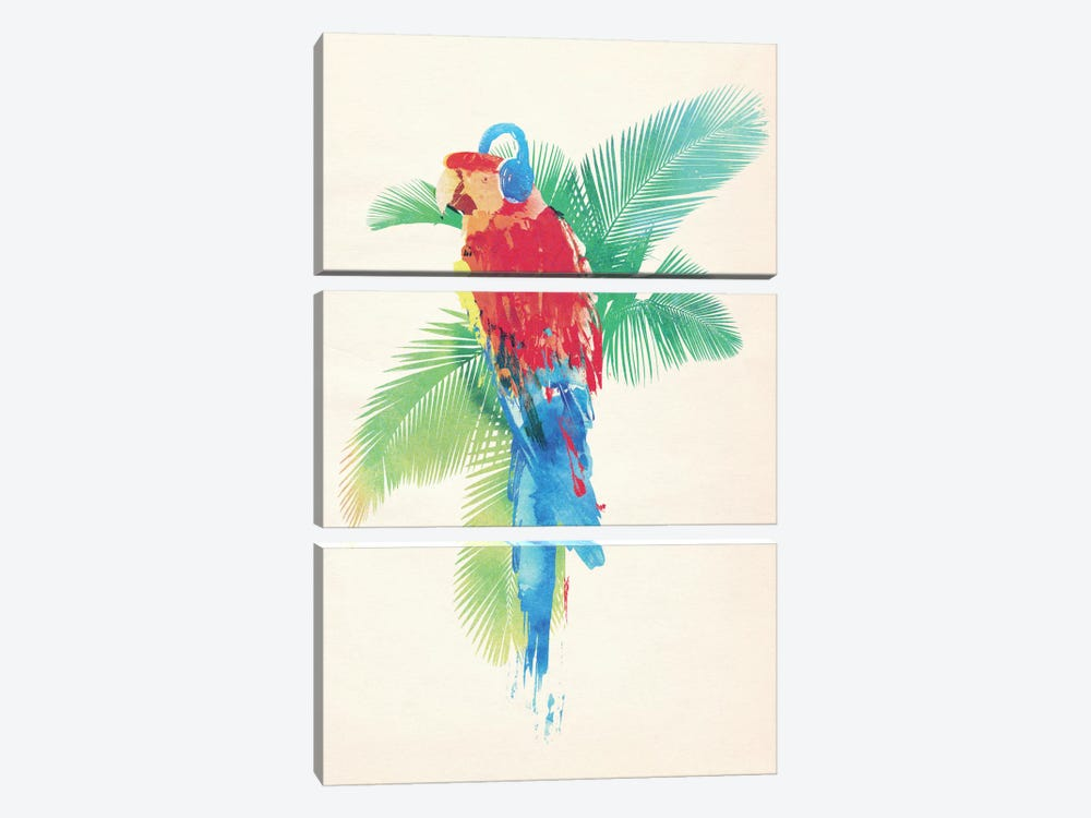 Tropical Party by Robert Farkas 3-piece Canvas Wall Art