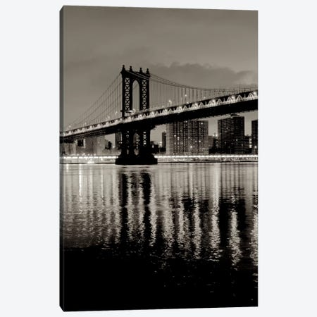 Manhattan Bridge At Night Canvas Print #ICS654} by Alan Blaustein Canvas Artwork
