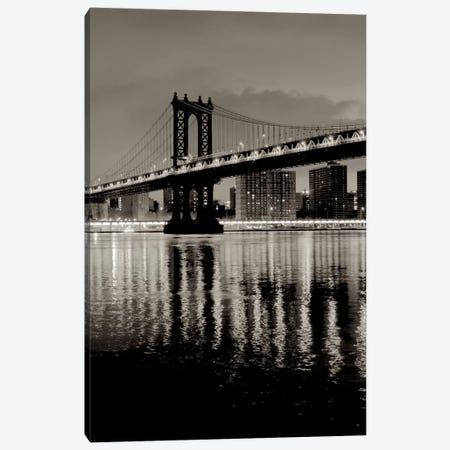 Manhattan Bridge At Night Canvas Print #ICS654} by Alan Blaustein Canvas Artwork
