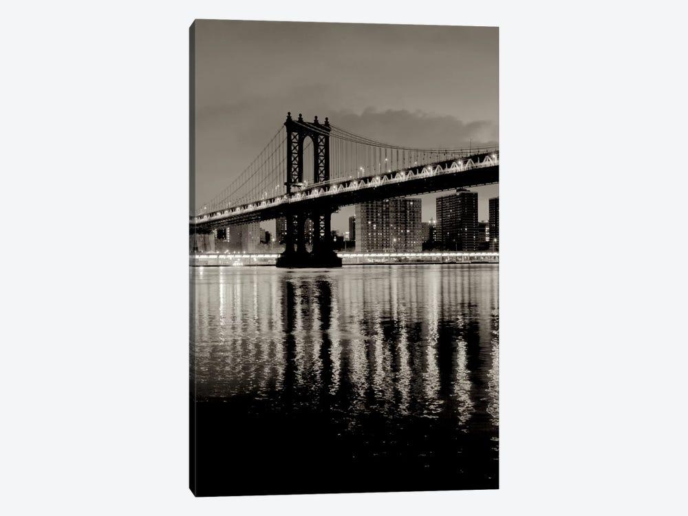 Manhattan Bridge At Night by Alan Blaustein 1-piece Canvas Print