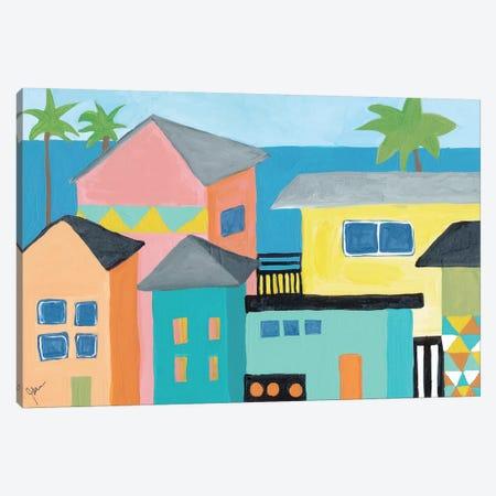 Beachfront Property I Canvas Print #ICS665} by Jan Weiss Canvas Print
