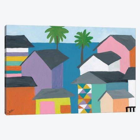 Beachfront Property II Canvas Print #ICS666} by Jan Weiss Art Print