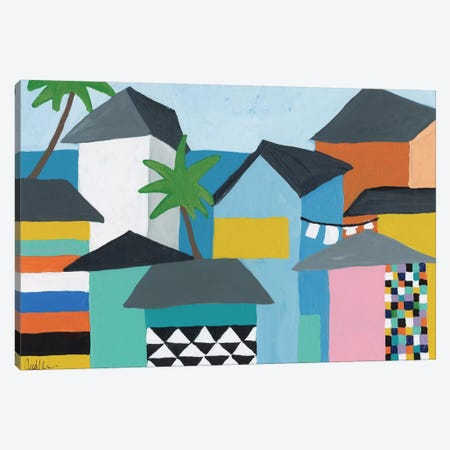 Beachfront Property III Canvas Print #ICS667} by Jan Weiss Canvas Print