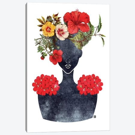 Flower Crown Silhouette I Canvas Print #ICS688} by Tabitha Brown Canvas Wall Art