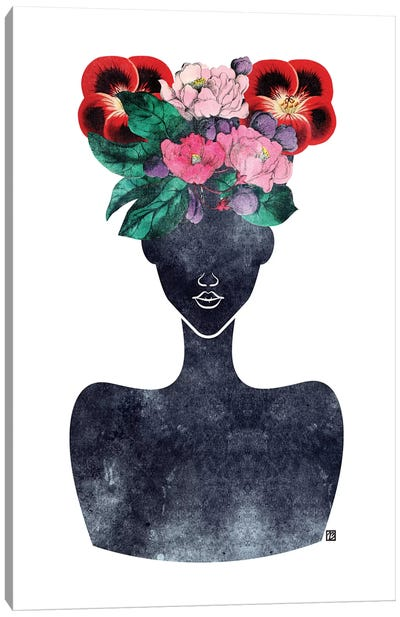 Flower Crown Silhouette II Canvas Art Print
