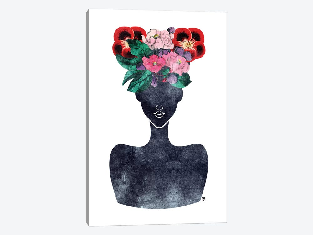 Flower Crown Silhouette II by Tabitha Brown 1-piece Canvas Art Print