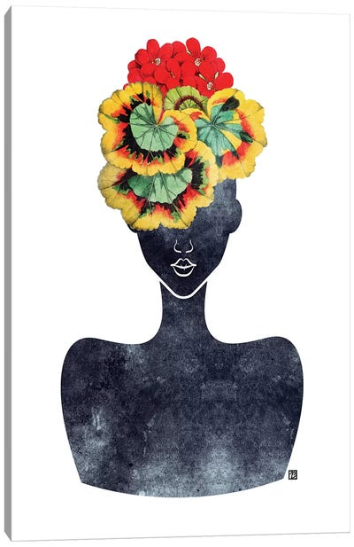 Flower Crown Silhouette IV Canvas Art Print