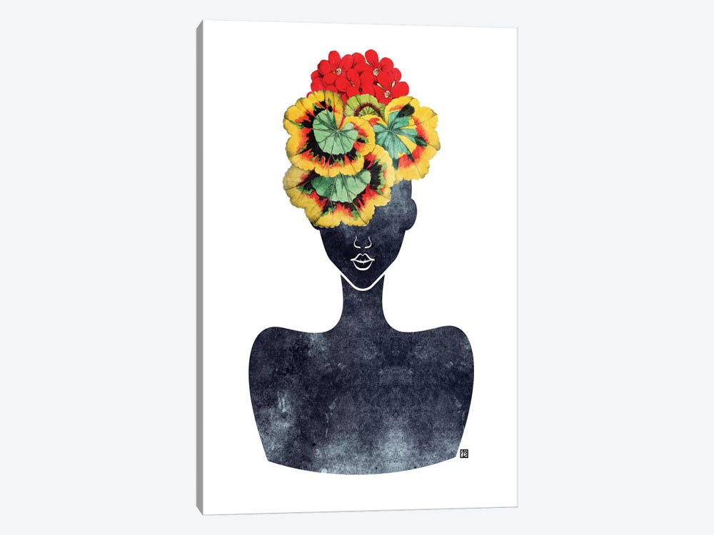 Flower Crown Silhouette IV 1-piece Art Print