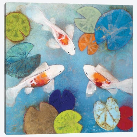 Koi II Canvas Print #ICS704} by Aleah Koury Canvas Wall Art