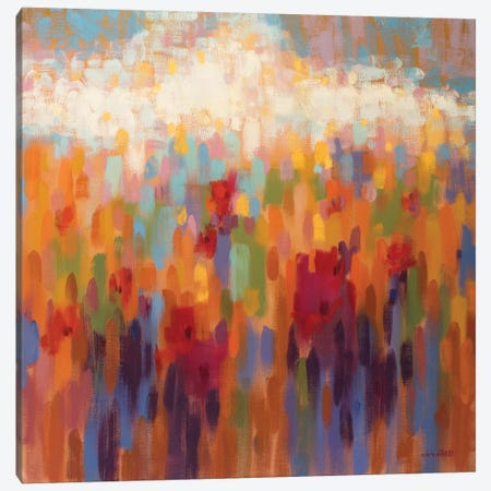Poppy Mosaic Canvas Print #ICS711} by Claire Hardy Canvas Wall Art